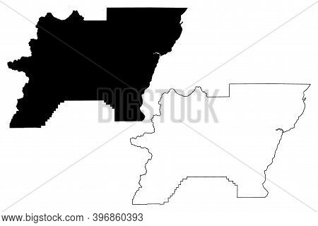 Baker County, Oregon State (u.s. County, United States Of America, Usa, U.s., Us) Map Vector Illustr