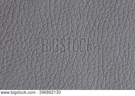 Leather Gray Background. Background With Artificial Gray Leather. Gray Texture