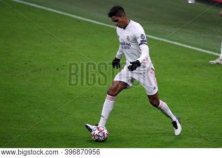 Milano, Italy. 25th November 2020. Raphael Varane Of Real Madrid Fc   During Uefa Champions League G