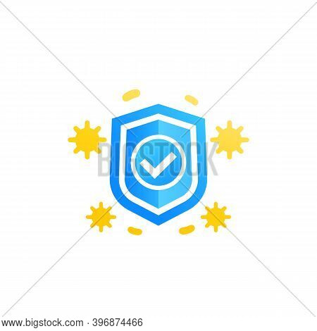 Immune System And Immunology Vector Icon, Eps 10 File, Easy To Edit
