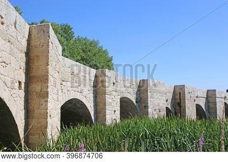 Historic Bridge In Quintana Del Puente, Spain