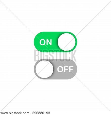 On And Off Toggle Switch Buttons. Icon For App And Ui. User Interface.