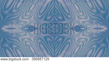 Vector Ornate Background Of Stripes And Lines In Trendy Pastel Colors With Moire Effect Contemporary