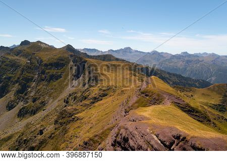 Views Of The Mountains And The Way Up To Ayous Peak In The Pyrenees
