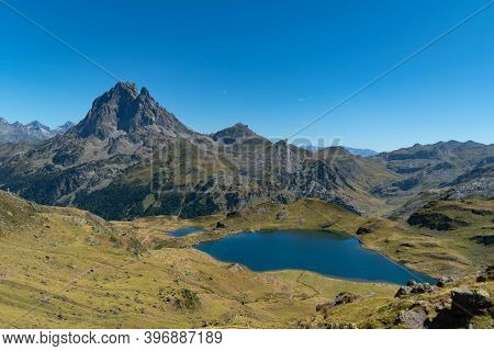 Views From The Ayous Peak Of The Midi D'ossau And Other Peaks, Mountains And Lakes Of The Pyrenees