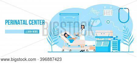 Perinatal Center Concept Vector. Preterm Birth And Premature Newborns Illustration. Non-carrying Of