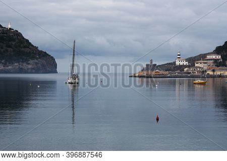 Departure From The Port Of Port De Soller, Mallorca