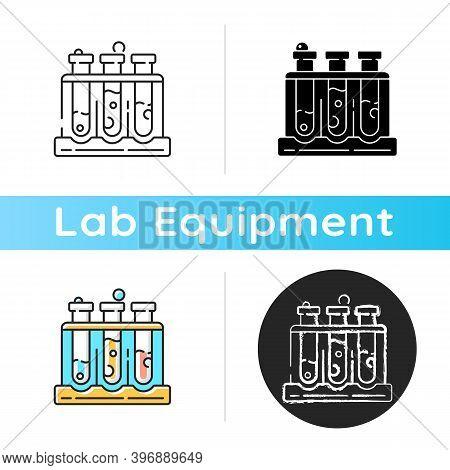 Test Tube Rack Icon. Laboratory Equipment. Holding Upright Multiple Test Tubes. Safe Storage, Transp