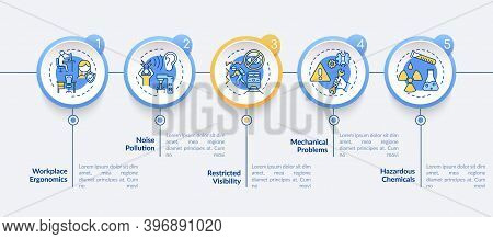 Workplace Safety Concerns Vector Infographic Template. Workplace Ergonomics Presentation Design Elem
