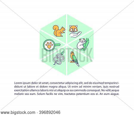 Protecting Species Diversity Concept Icon With Text. Wild Habitat Conservation. Endangered Animals.