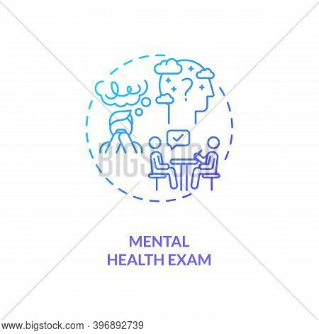 Mental Health Exam Concept Icon. Cfs Diagnostics Idea Thin Line Illustration. Clinical Assessment Pr