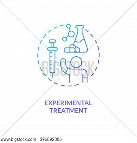 Experimental Treatment Concept Icon. Cfs Cure Idea Thin Line Illustration. Clinical Trials. Non-medi