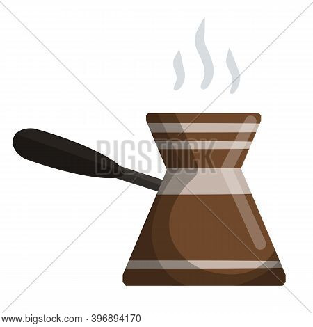 Preparation Of Turkish Coffee. Strong Drink With Caffeine.