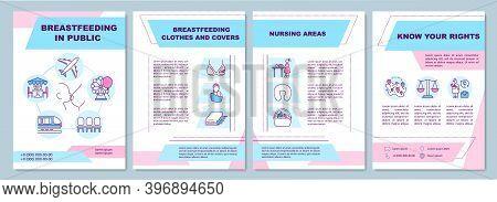 Breastfeeding In Public Brochure Template. Nursing Areas. Flyer, Booklet, Leaflet Print, Cover Desig