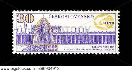 Czechoslovakia - Circa 1967 :  Cancelled Postage Stamp Printed By Czechoslovakia, That Shows Colonna