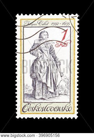Czechoslovakia - Circa 1983 :  Cancelled Postage Stamp Printed By Czechoslovakia, That Shows Paintin