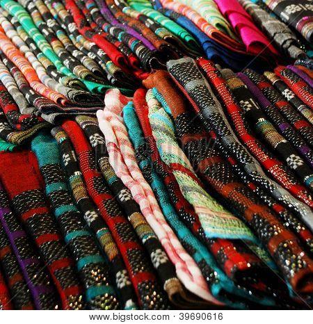 colorful silk fabric