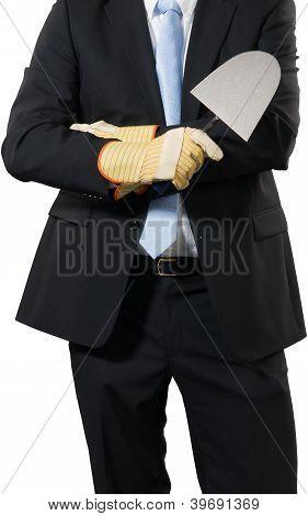 Businessman With A Trowel