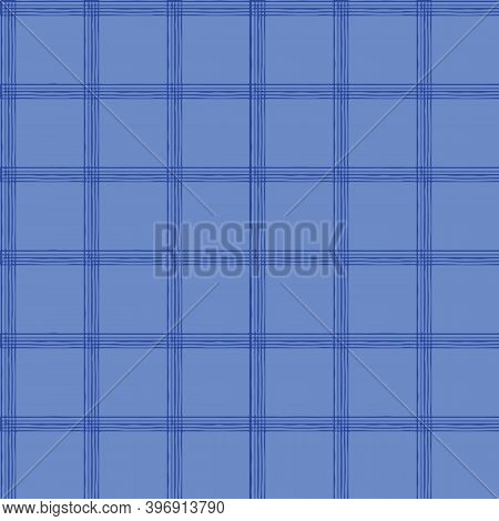 Blue Window Pane Plaid For The Home