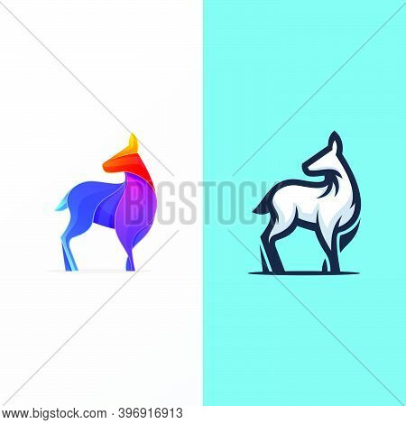 Colorful Deer Logo Design Vector Template Easy To Use