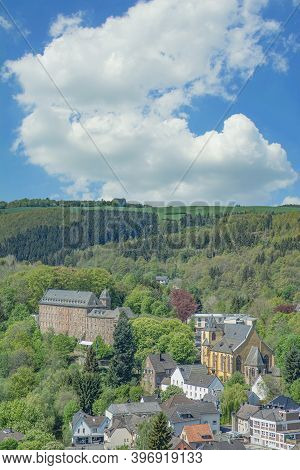 View To Village Of Schleiden In Eifel,germany