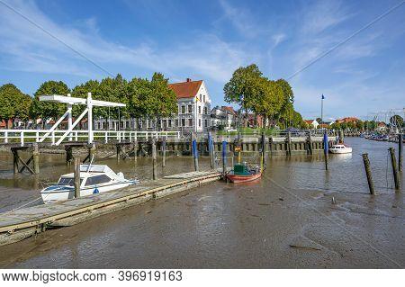Village Of Toenning On Eiderstedt Peninsula,north Sea,north Frisia,germany