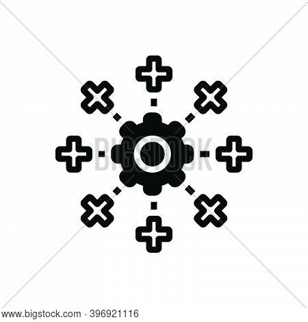 Black Solid Icon For System Mainframe Network Database Information Software Engineering App-testing