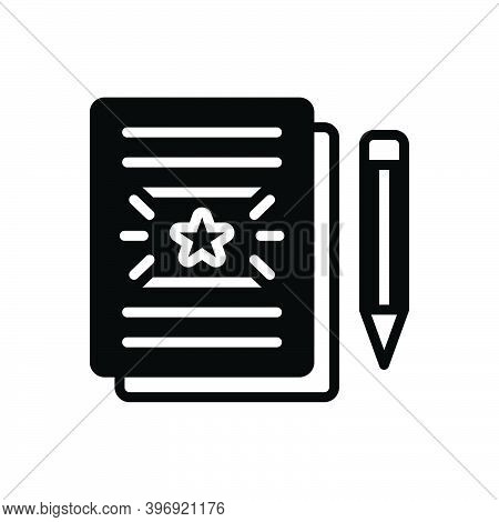 Black Solid Icon For Conclusion Concept Resume Agreement Contractor Convention Paperwork Document