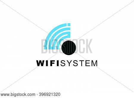 Symbol Design  Creative Logo Icon Wi-fi Signal Template