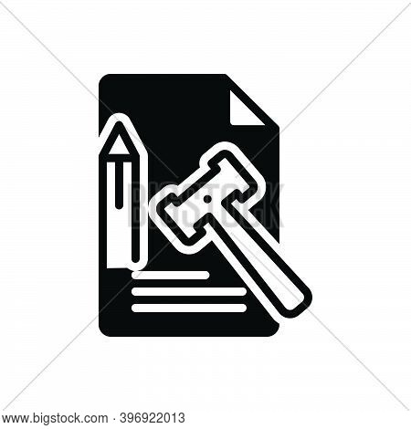 Black Solid Icon For Principle Truth Tenet Doctrine Law Enactment Lawmaking Law-and-order Legal Lawf