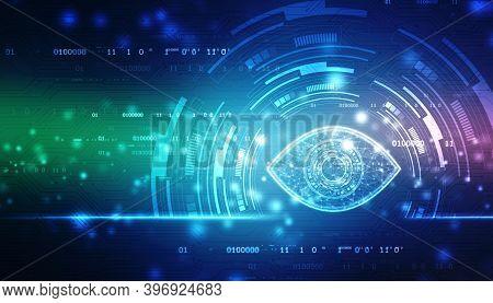 Biometric Screening Eye, Digital Eye, Security Concept, Cyber Security Concept, Technology Concept B