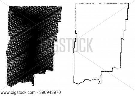 Blaine County, Montana (u.s. County, United States Of America, Usa, U.s., Us) Map Vector Illustratio
