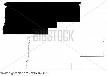 Jefferson County, Oregon State (u.s. County, United States Of America, Usa, U.s., Us) Map Vector Ill