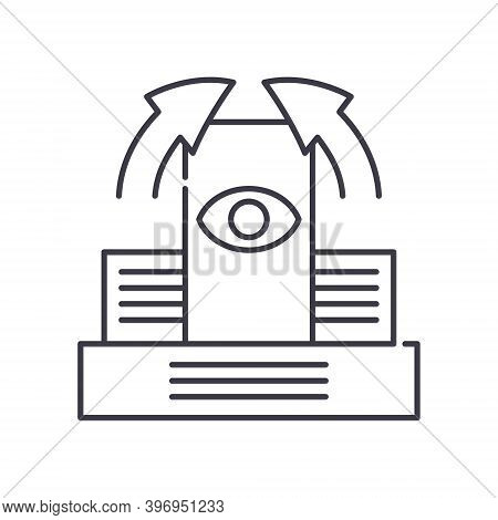 Fundamental Investment Icon, Linear Isolated Illustration, Thin Line Vector, Web Design Sign, Outlin