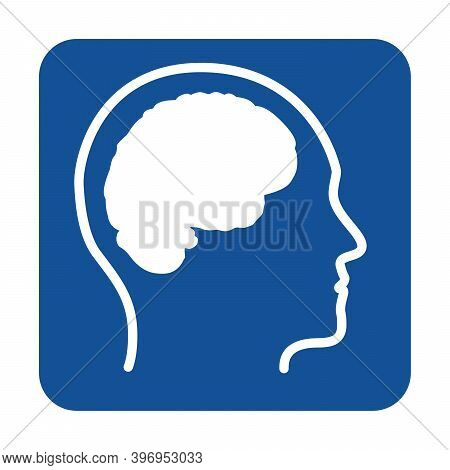Mental Health And Autism Pictogram With A White Background