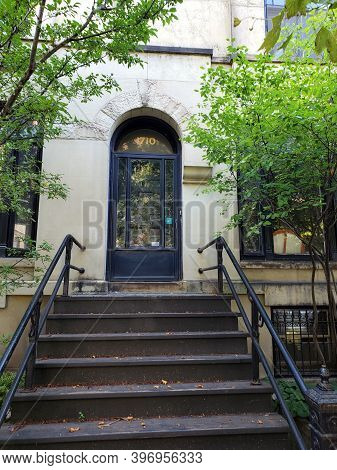 Chicago, Il August 26, 2020, Exterior Front Entrance To The Henry Gerber House Former Site Of The Fi