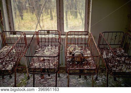 Neonatal Ward In Abandoned Hospital Of Pripyat City, Chernobyl Exclusion Zone, Ukraine