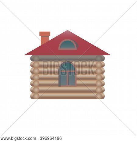 Wood Log House Icon. Vector Illustration Eps 10