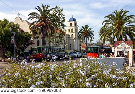 San Diego, America - April 23, 2014:old Town San Diego State Historic Park, California,usa.there Are
