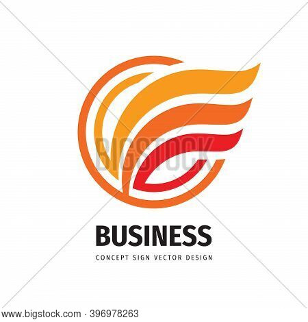 Business Development Concept Logo Design. Abstract Wing Positive Logo Sign. Transport Speed Delivery