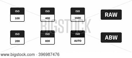 Iso Camera Icon Set. Vector Iso Symbol Collection.