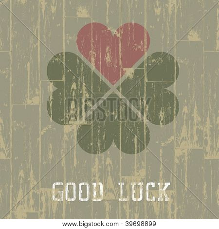 Good luck. St. Patrick's Day concept. Raster version, vector file available in portfolio.