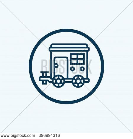 Trailer Icon Isolated On White Background From Adventure Collection. Trailer Icon Trendy And Modern