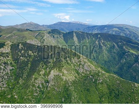 Aerial View Of Mountains Above Sopot In Bulgaria