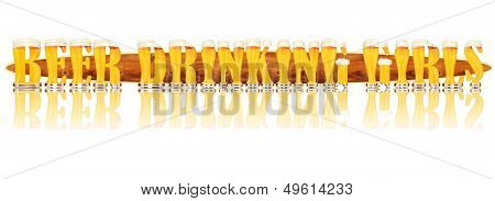 BEER ALPHABET letters BEER DRINKING GIRLS