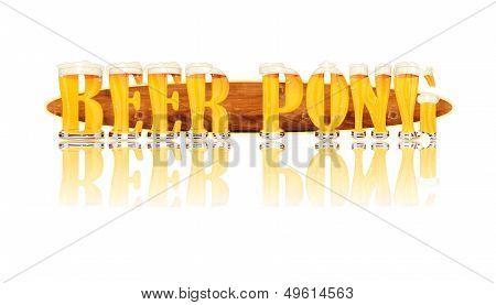 BEER ALPHABET letters BEER PONG