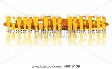 BEER ALPHABET letters GINGER BEER.