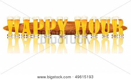 BEER ALPHABET letters HAPPY HOUR