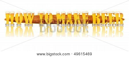 BEER ALPHABET letters HOW TO MAKE BEER