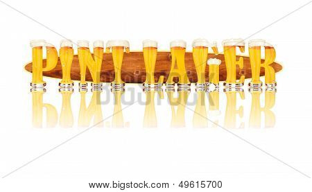BEER ALPHABET letters PINT LAGER
